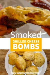 These smoked grilled cheese bites are one of my daughter's favorite foods I make on the smoker. If you're looking for simple kid friendly bbq ideas, put this one on your list! #traegerbbq #smokedfood #kidfriendlyrecipes #fingerfoods