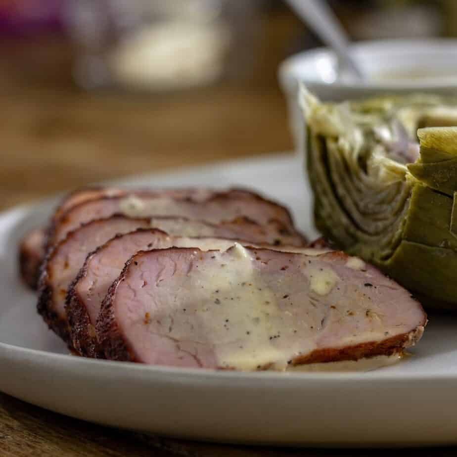 Smoked Pork Tenderloin with Alabama White Sauce
