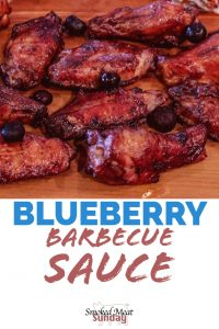 Blueberry BBQ Sauce - A unique twist on traditional barbecue sauce that will have your guests coming back for more. BBQ - Sauces - Homemade BBQ - Steak - Pork - Chicken - Smoker - Grill