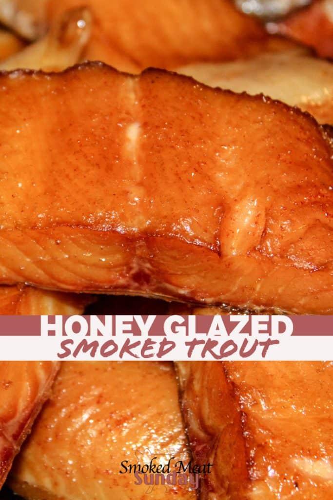 Honey Glazed Smoked Trout - Smoked Fish Recipe - Smoked Fish Brine - Dry Brine for Trout - Smoked Salmon - Dry Brine - Brine for Fish - Pellet Grill Recipes - Smoked Food - Traeger Recipes