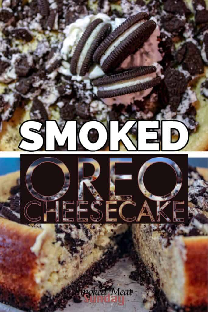 Have you ever had Oreo Cheesecake? This smoked spin on the traditional favorite is one of my favorite smoked dessert ideas. It's easy to make, and absolutely delicious. #traegerrecipe #smokeddessert #pelletgrill Smoker Recipes