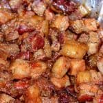Pork Belly Burnt Ends getting sauced