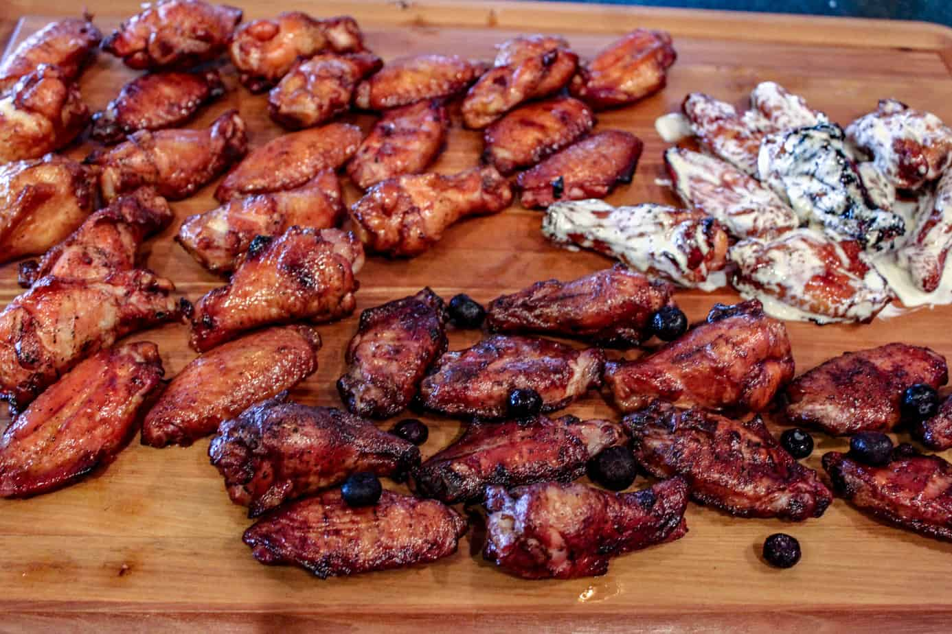 Red White and Blue Chicken Wing Recipe