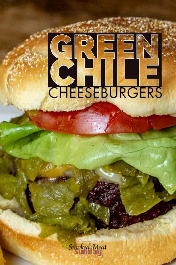 Everyone loves a good cheeseburger, and this smoked cheeseburger recipe is one of the best. Have you ever smoked hatch chiles? It's such an easy process, and the chiles go good on just about anything! I loved how easy this recipe was to make. If you're looking for hatch chile recipe ideas, this is a great place to start! Smoked Cheeseburger - Traeger Recipes - Green Chile - Wagyu Beef - Hamburger - Burger
