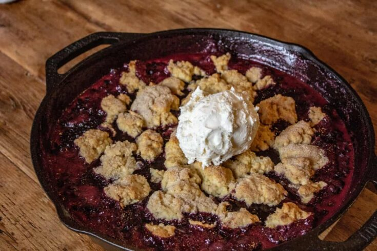 Smoked Huckleberry Cobbler Recipe