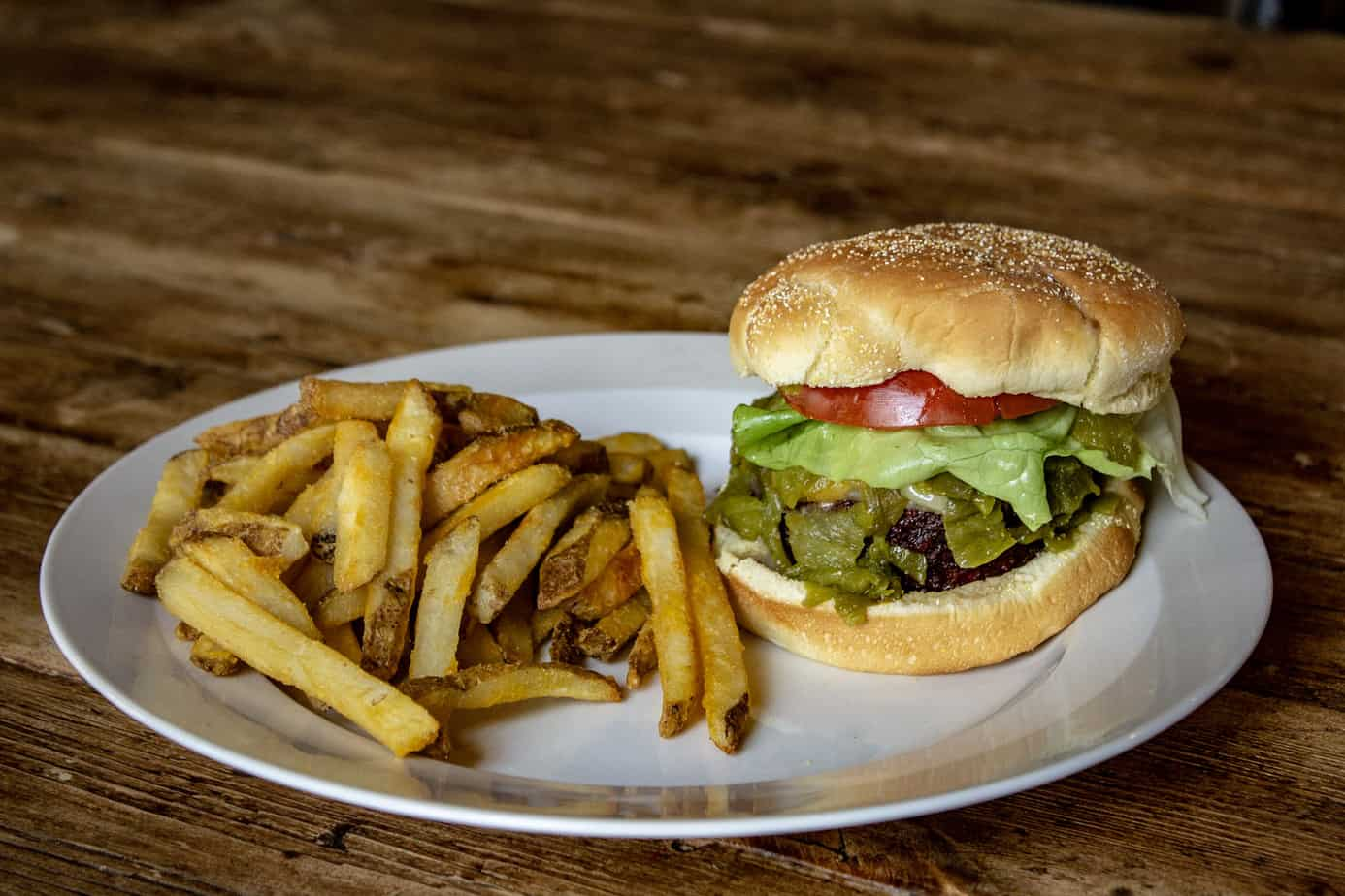 Hatch Green Chile Cheeseburgers