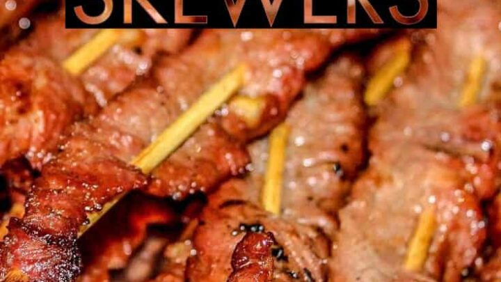 Once of my favorite weeknight bbq meals. These skirt steak skewers are easy to make on your smoker or pellet grill, and they taste delicious! Original recipe can be found here: https://www.simplyrecipes.com/recipes/grilled_skirt_steak_skewers/