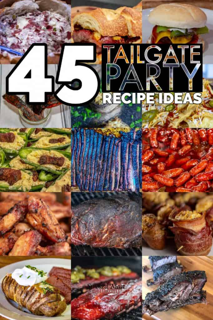 Tailgate party recipe ideas - Smoked Meat Recipes - Smoked Appetizer Recipes - Simple Gameday Recipes - #traegergrills #smokedmeats #appetizers #pelletsmokers #gamedayeats #bbq #barbecue