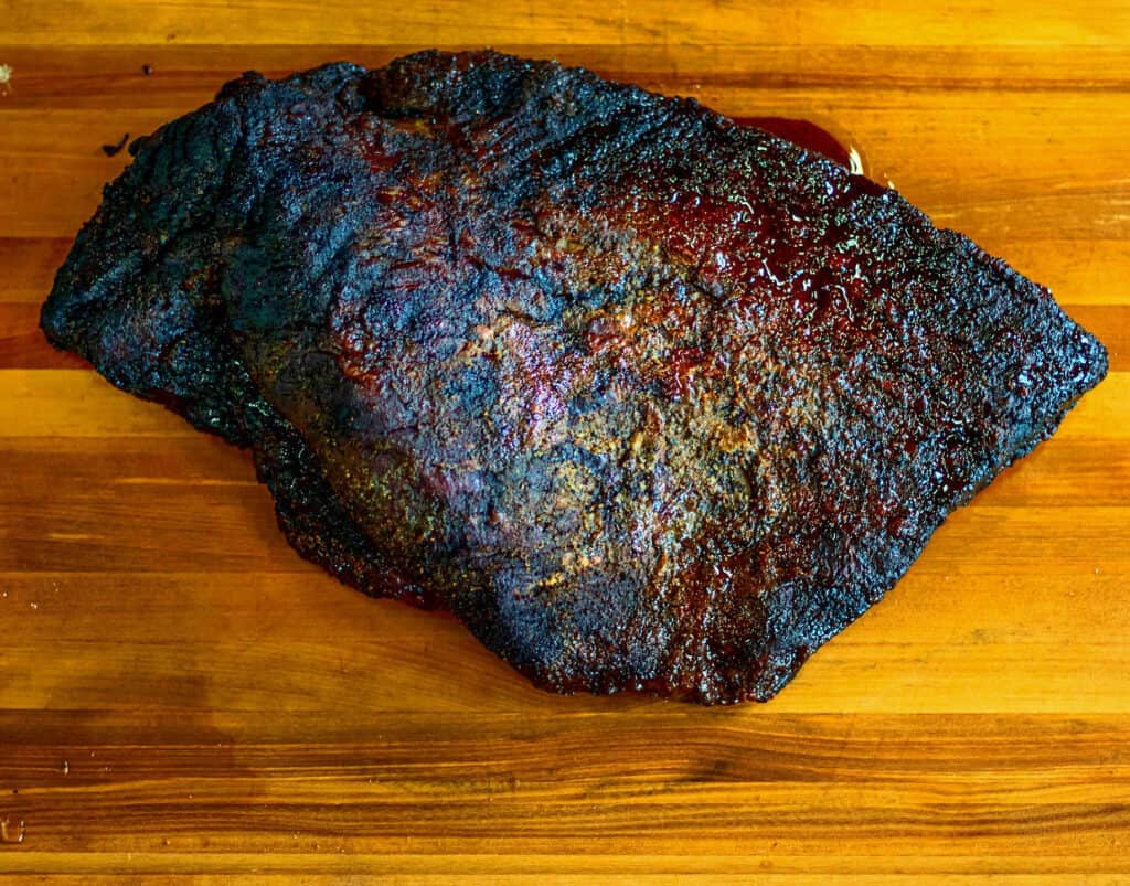 smoked brisket with bark