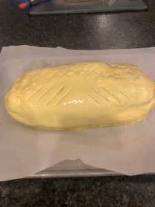 smoked beef wellington with pattern