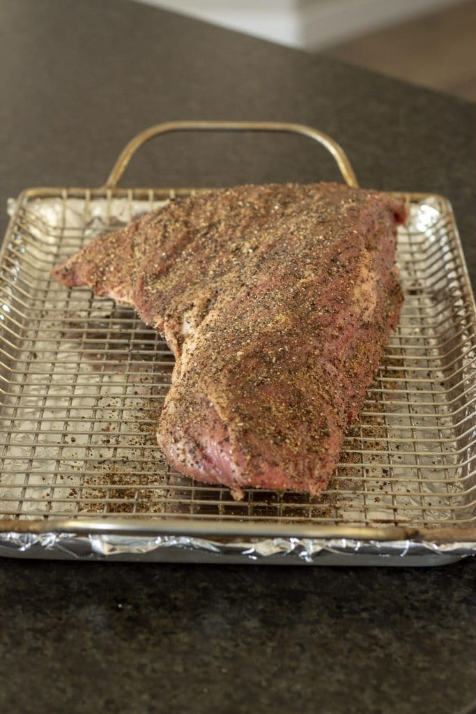 tri tip with rub applied