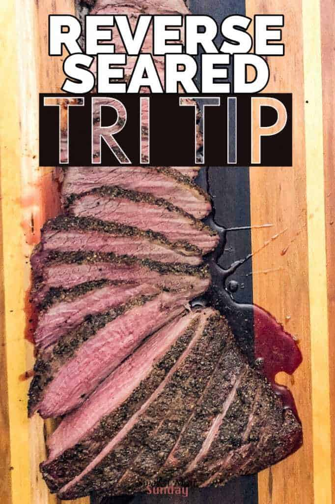Smoked Tri Tip - generously seasoned and then smoked to perfection. This healthy gluten free recipe produces some of the best tri tip I've ever tasted.  All of the ingredients for this recipe can be purchased at the new Albertsons Market Street located at 3499 E Fairview Ave, Meridian ID. #eatlifeup #ad  #smokedmeat #glutenfree #bbq #traegerrecipes #Traeger #beef #tritip