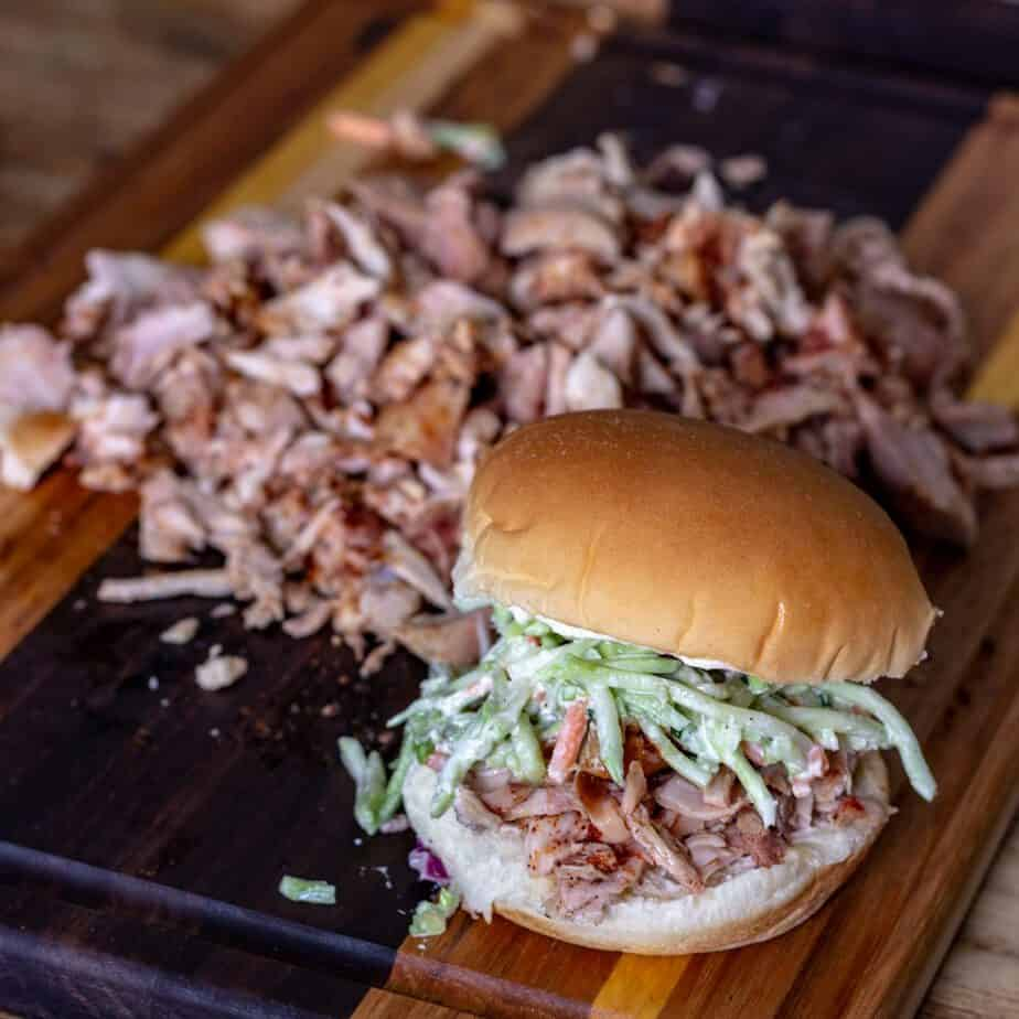 Traeger pulled chicken