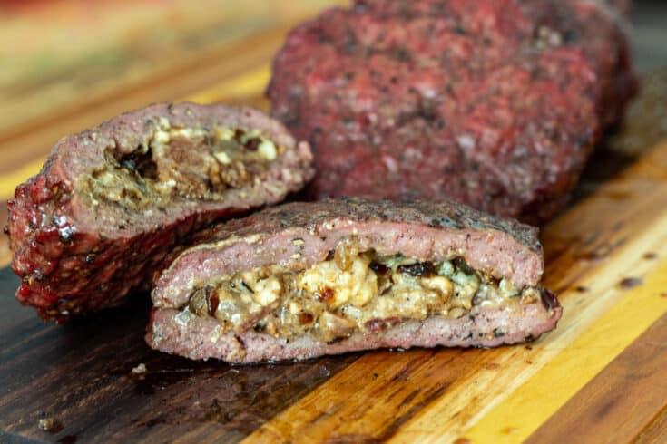 Blue Cheese Stuffed Burgers AKA Gourmet Juicy Lucy