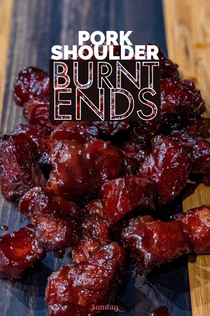 Pork Shoulder Burnt Ends - A unique take on a classic burnt ends recipe. These are leaner than traditional burnt ends. If you're looking for unique barbecue recipes, or off the wall appetizer ideas, check this out! #traegerrecipes #bbq #porkrecipes #pork