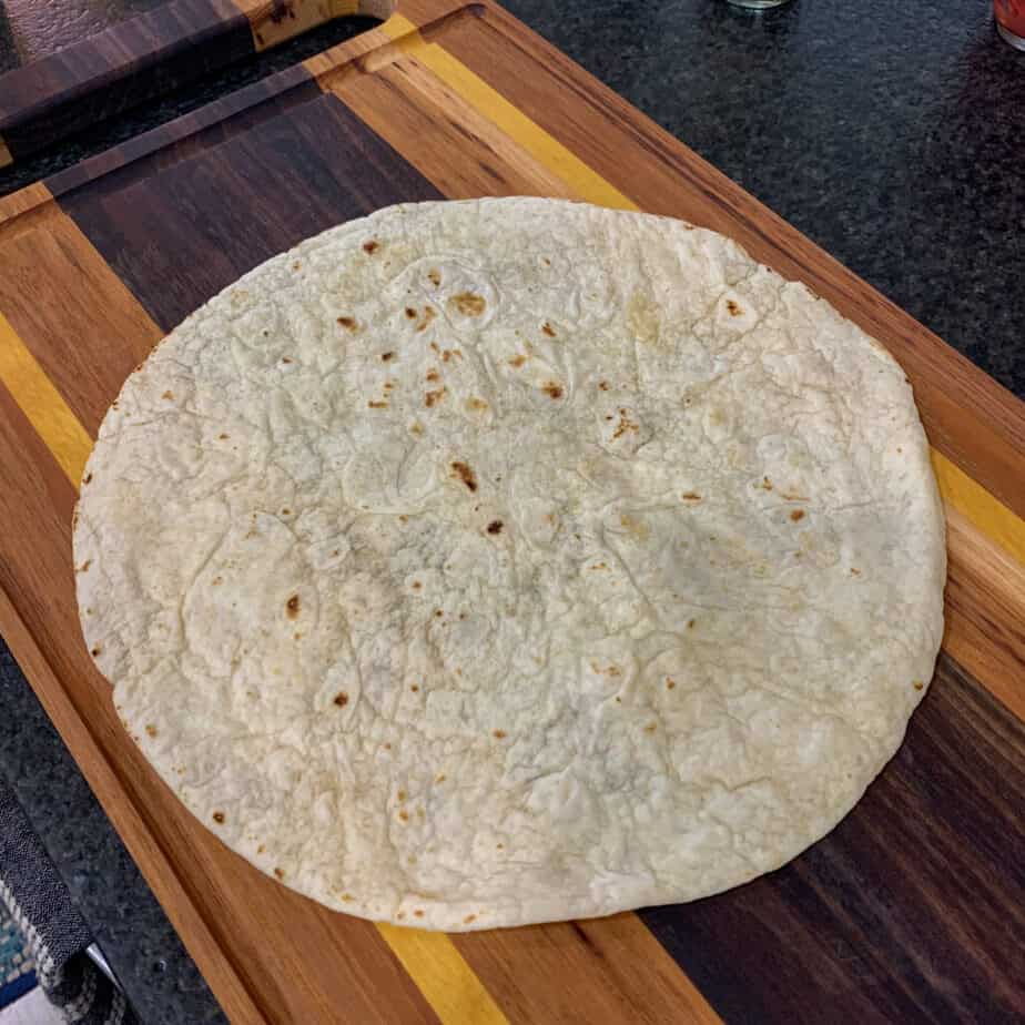 tortilla for pulled pork crunch wrap