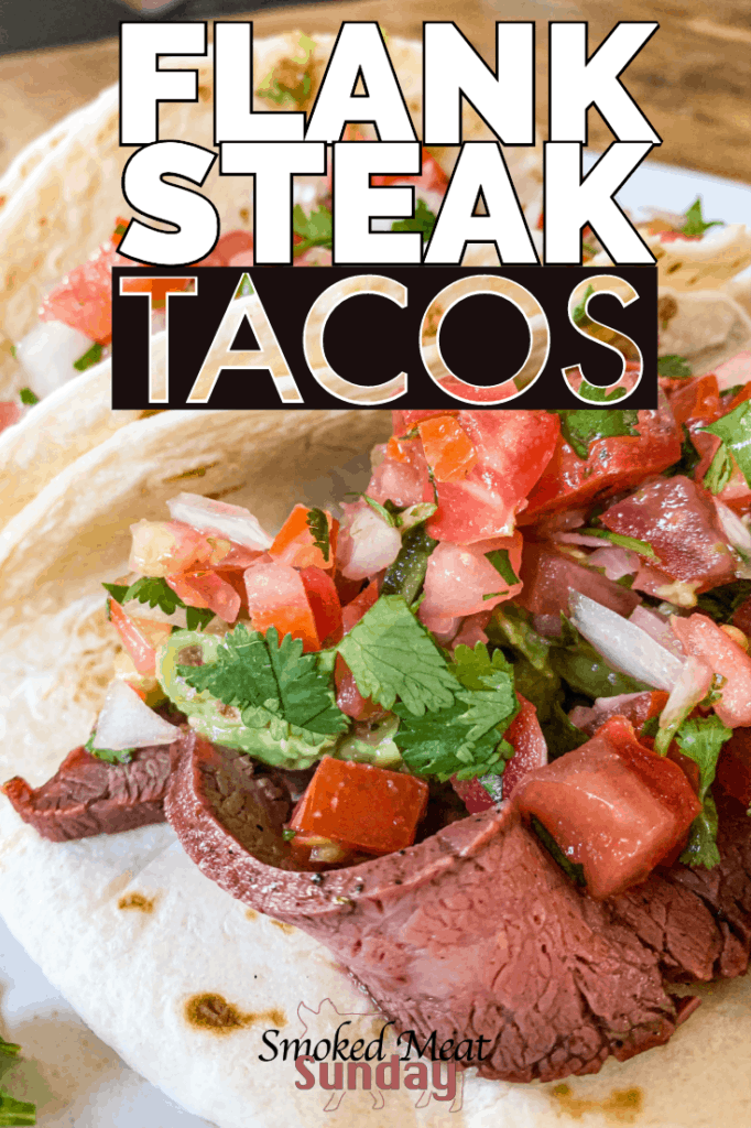 These are the best flank steak tacos I've ever had. If you're looking for a simple carne asada marinade and a foolproof method to smoke a flank steak, look no further! This is the best way to prepare flank steak.