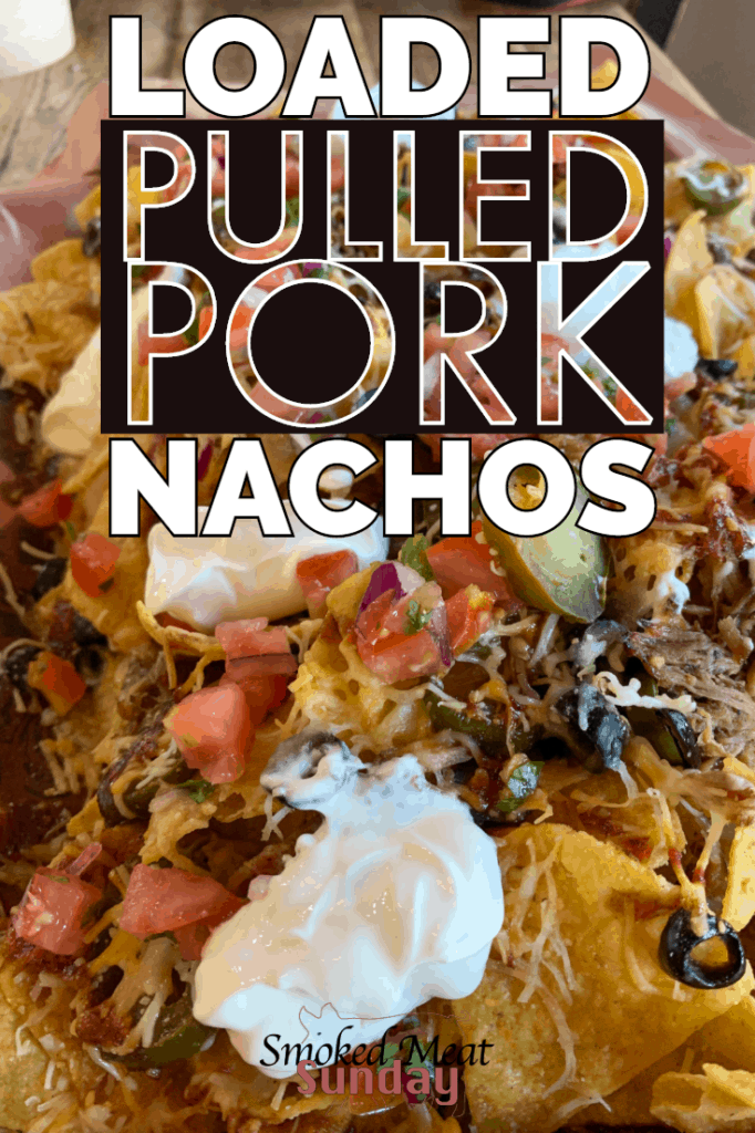 Pulled Pork Nachos are one of my favorite ways to use leftover pulled pork. They're also one of my FAVORITE tailgate foods. If you're getting ready for a tailgate party be sure to check out Albertson's on Broadway or Albertson's Market Street. They have everything you need to throw an EPIC tailgate party.  #eatlifeup #bbq #traegerrecipes #smokedmeat #nachos #mexicanfood #tailgate
