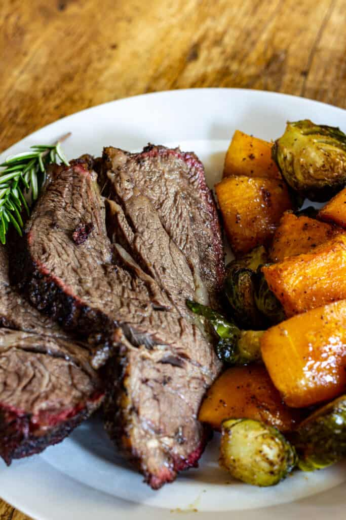 smoked chuck roast with butternut squash