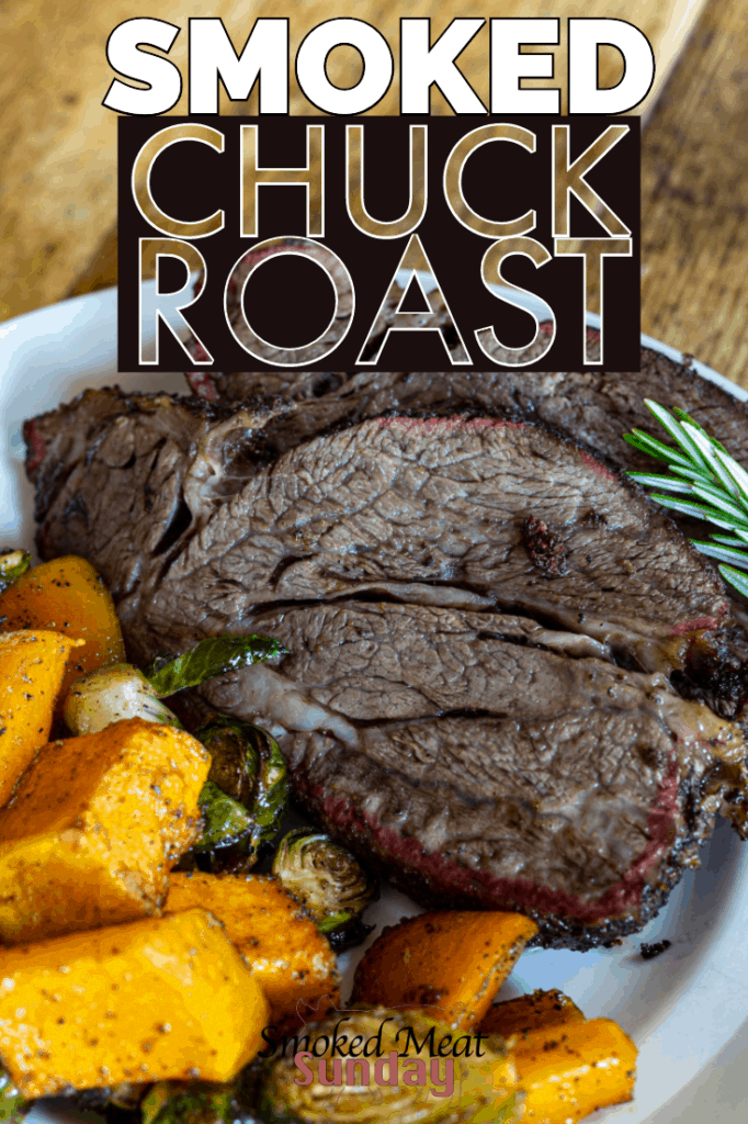 This smoked chuck roast recipe with roasted butternut squash is perfect for the Fall. If you're looking for a great pellet smoker recipe for the Fall, look no further!   Right now, Albertson's on Broadway and Albertson's Market Street have everything you need to make the perfect Fall feast. Be sure to check them out!  #eatlifeup #ad