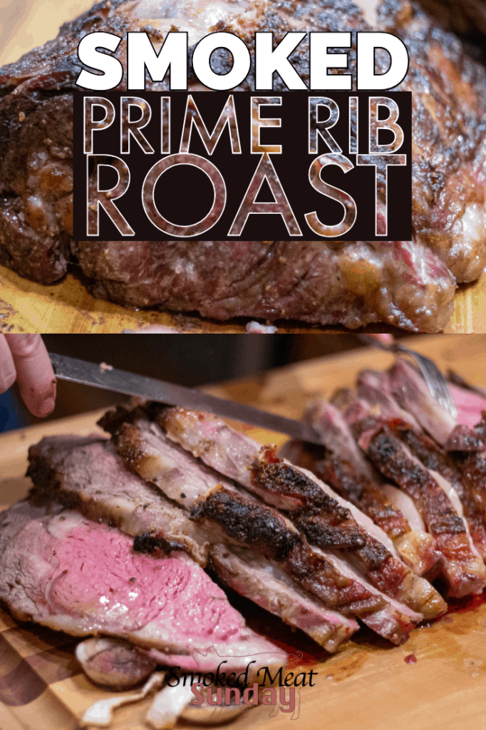 This smoked prime rib roast recipe is perfect for your next family get together or big holiday meal. It's easy to follow, and the end result is out of this world delicious. #primerib #traegerrecipe