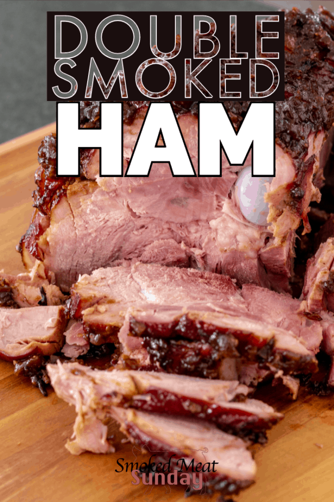 One of my favorite things to make for the holidays, double smoked ham. Cooked on a Traeger, or smoker, this is the perfect recipe for you next holiday get together. #bbq #smoker #smoked #traegerrecipe #smokedmeat #holidays