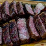 Smoked New York Strip Steaks