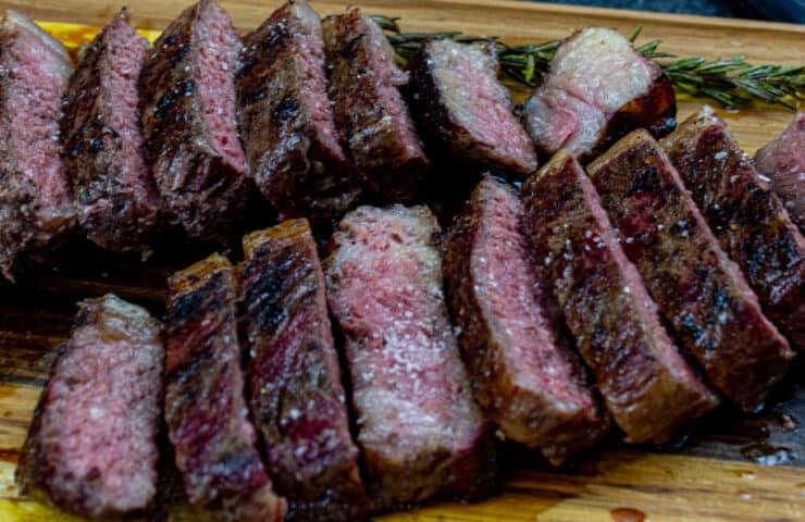 Smoked New York Strip Steaks