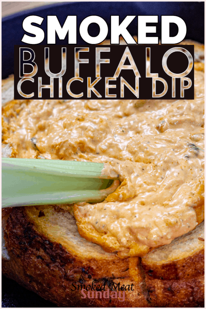 One of my favorite simple appetizer recipes. This smoked buffalo chicken dip recipe is keto friendly, and the perfect addition to any tailgate party. #ketoappetizers #bbqfood #tailgatepartyfood #traegerrecipes #bbqrecipes