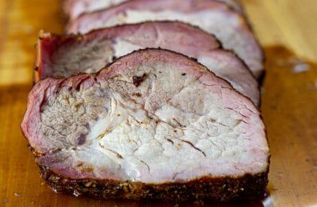 smoked pork loin slices