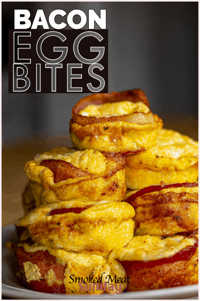 Smoked bacon egg and cheese bites are one of my favorite things to make for breakfast on the smoker. They're easy to make, and my family loves them!  #breakfast #eggbites #smoked #traegerrecipe