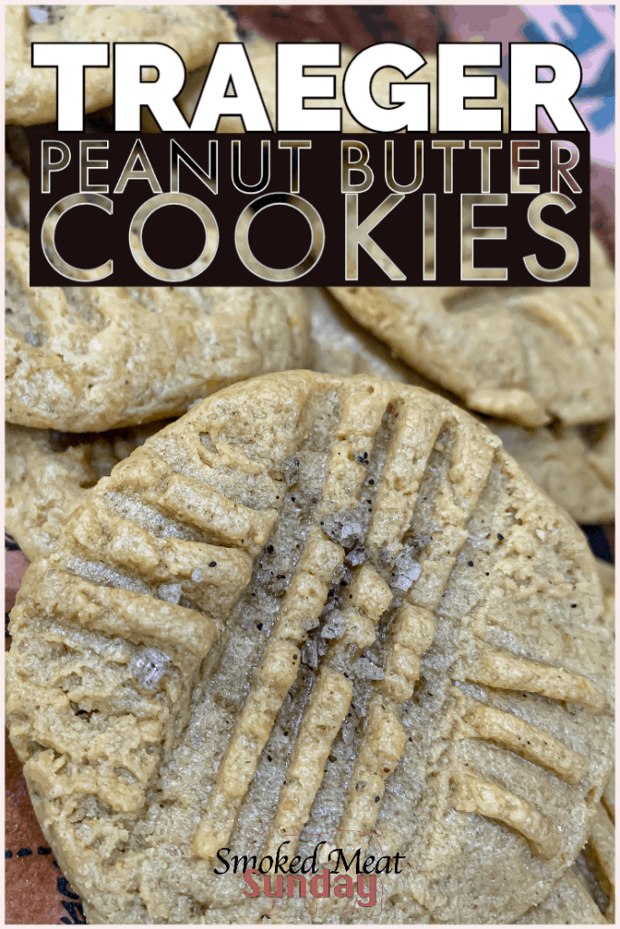 3 Ingredient Peanut Butter Cookies cooked on a Traeger pellet grill - This peanut butter cookie recipe uses just 3 ingredients!