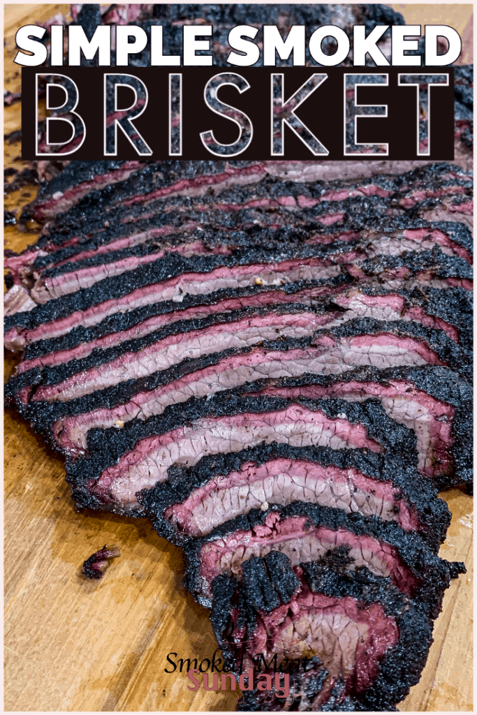 Have you ever made brisket? This simple smoked brisket recipe is easy to follow and produces fantastic results every time.   If you want to know how to smoke a brisket check this out!  #traegerrecipes #bbq #traeger #smokedmeat