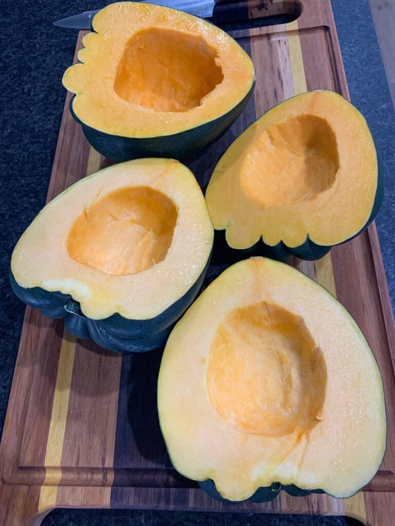 sliced acorn squash