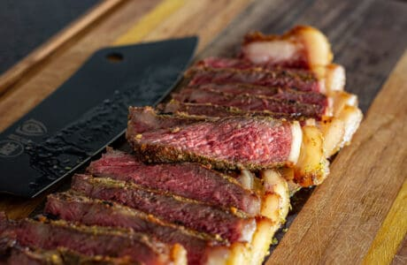 New York Strip from Mountain Primal Meat Co. A Great place to buy organic beef online