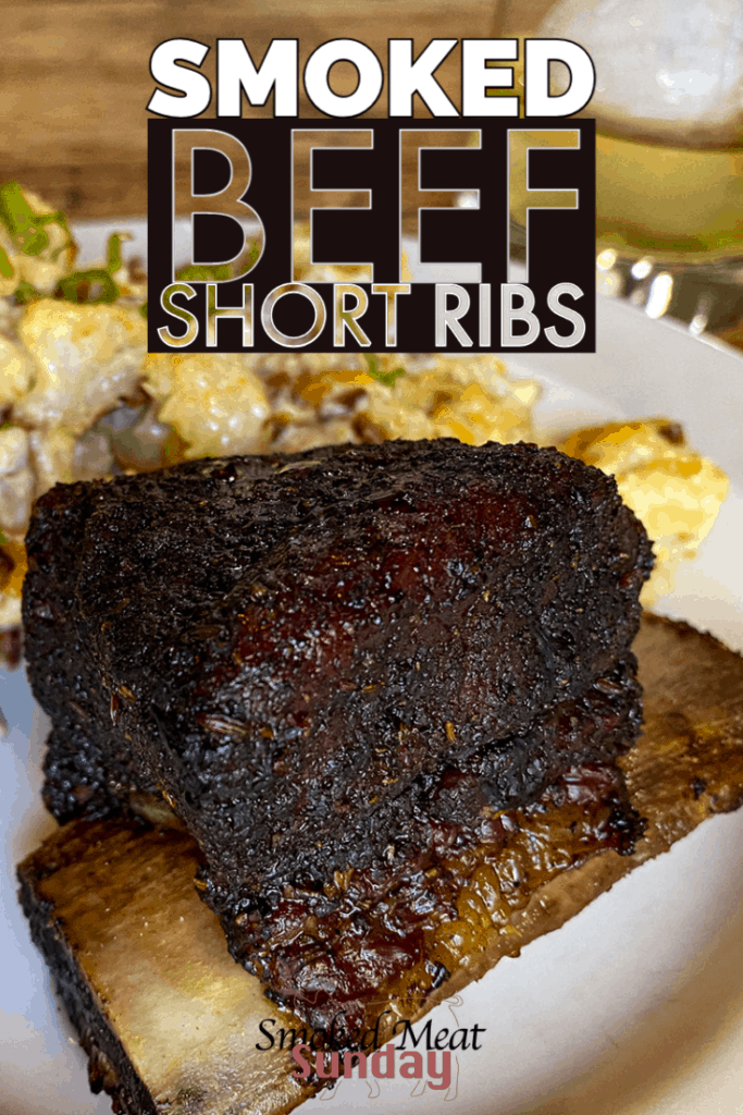 how to make smoked beef short ribs recipe - Beef short ribs on a Traeger - #traegergrills #bbq #barbecue #smokedmeat